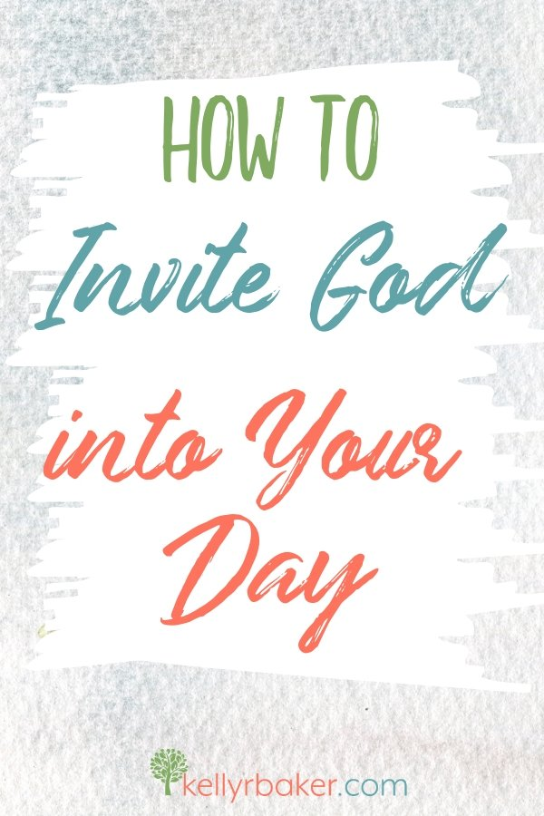Would you like a closeness with God that you can sense throughout your daily life? Here's how to invite God into your day. #GodlyAdventure #WalkingwithGod #BloggerVoicesNetwork #ThrivingInChrist #Bible #Christian #Jesus #HolySpirit #spiritualgrowth
