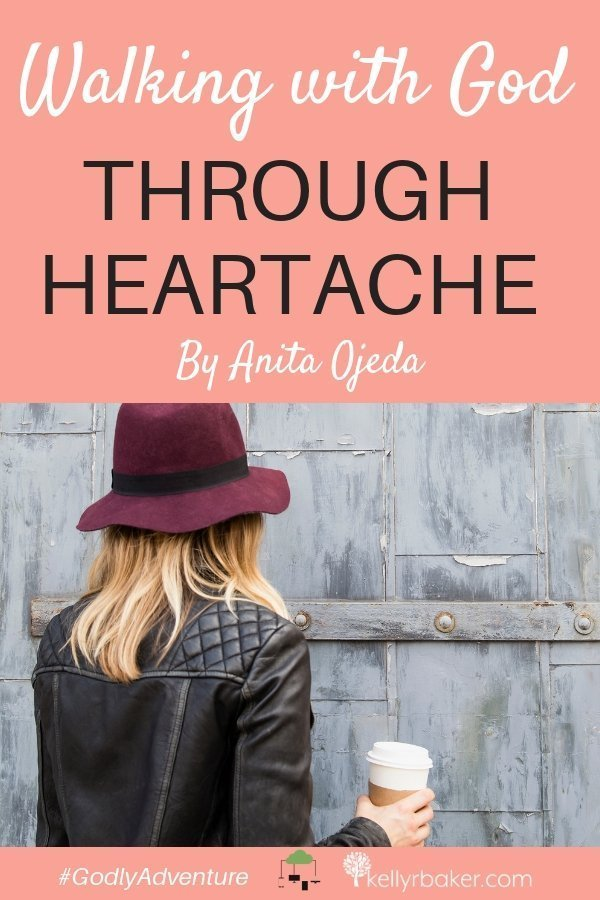 Have you ever experienced heartache? Especially enduring pain—that you caused? Anita shares her story of walking with God through heartache. #GodlyAdventure #WalkingwithGod #BloggerVoicesNetwork #ThrivingInChrist #Bible #Christian #Jesus #mentalillness #hardtimes #forgiveness #hurt #words