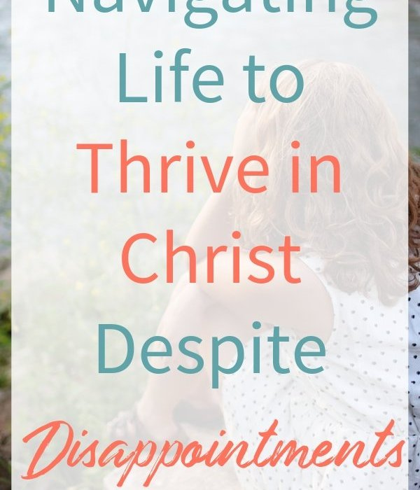 Discouragement can affect us all and even our relationship with God. In this post, I'm sharing how to thrive in Christ despite disappointments. #ThrivingInChrist #disappointments #discouragement #verses #spiritualgrowth #biblicaltruths #madatGod #missingout