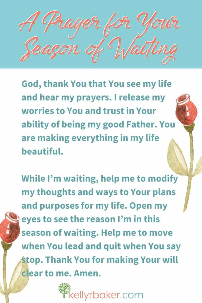 A Prayer for Your Season of Waiting.