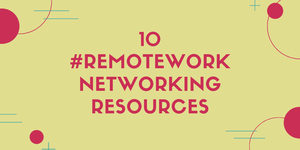 remote work networking resources