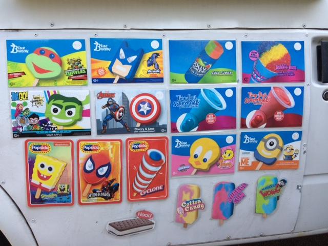 Kelly's Ice Cream Truck offers over 40 treats.