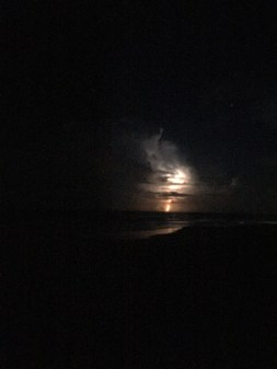 A little cloud lightning over the Atlantic ~ After Midnight