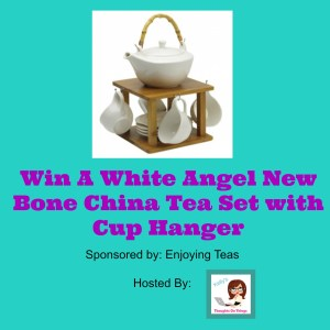White Angel New Bone China Tea Set with Cup Hanger giveaway ends 5.4