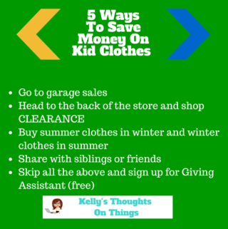 5 Ways To Save Money On Kids Clothing #givingassistant