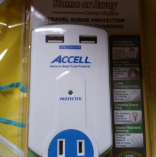 Perfect Travel Companion- Accell Travel Surge Protector