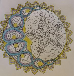 What I managed to get done before Liam was bored with his coloring book.