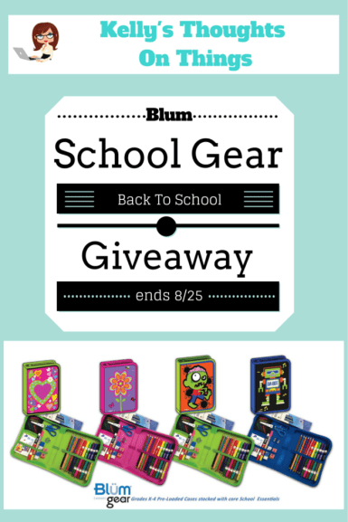41 pieces w/Case Blum all-In-one School Supplies Giveaway ends 8/25