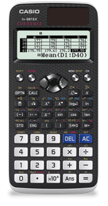 ClassWiz Models ></a>  Not only is the CLASSWIZ fx-991EX the industry's first scientific calculator with spreadsheet functionality, it also features 274 functions and high-resolution LCD technology, bringing the classroom into the 21<sup>st</sup> century and making counting on your fingers and toes a thing of the past. When it comes to usability, the CLASSWIZ fx-991EX makes it easy for students to start solving equations right away, with features like an intuitive icon display for quick access to key functions, and a convenient list display function to provide thorough and quick learning.  Calculators have come a long way since I was in school and that's been a long time! This one features the ability to convert graphs into QR codes which can be displayed on a projector screen. Which allows the teacher and students to work together. The teacher can generate a specific QR codes for students to scan using their smartphone or tablet in order to access a dedicated website and see the graph directly on their device. Wow technology is just amazing. This calculator was way beyond me but my 8th grader is having a lot of fun with it and can't wait to start school to show it off. He is going to try to get the teacher and classmates to get them too. He loves math so I wasn't surprised he wanted this one.   Check out all what this calculator can do- I was really impressed with the spreadsheet capabilities!   <h3>Main Functions</h3> <ul class=
