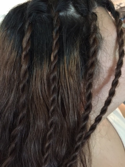 Make Easy Twist Braids with Conair Quick Twist #QuickTwist