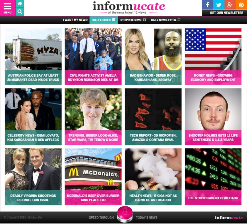 Informucate Home Page Screenshot