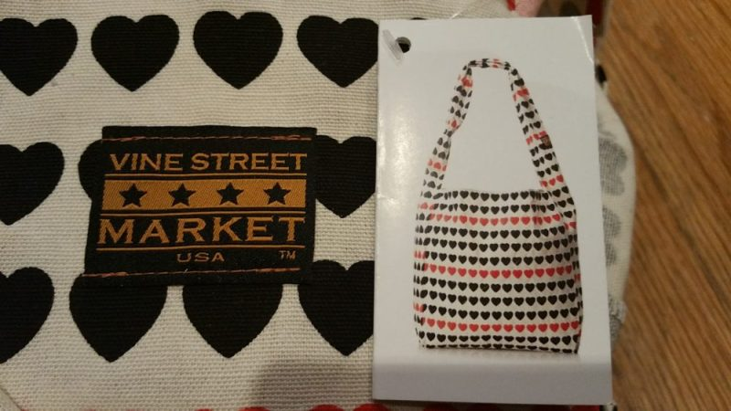 Vine Street Market, USA - Large Canvas Totes: