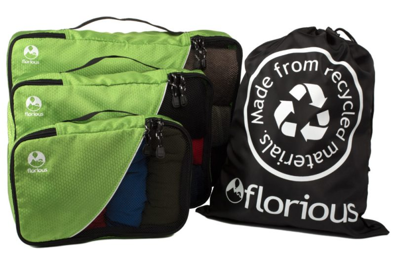 Packing Cube Set 3 Pc + Laundry Bag by Florious