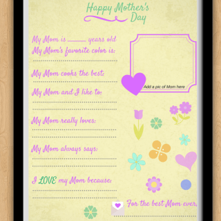 Happy Mother's Day Printable #socute