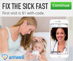 Amwell Will Fix the Sick Fast-$1 Visit Code #momsloveamwell