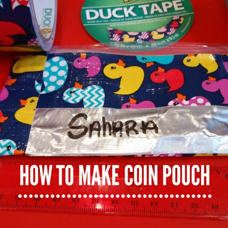 How to make a coin pouch with Duck Tape