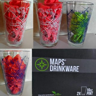 UncommonGreen Glassware Now Has Etched Maps