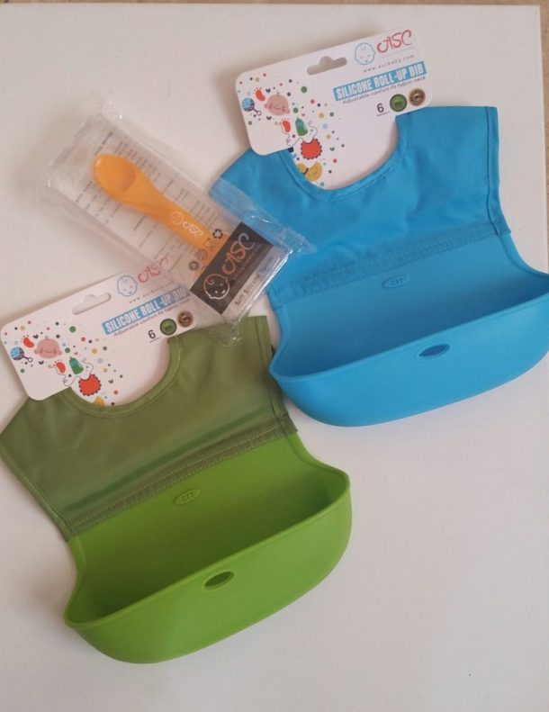 Roll Up Bibs with Pocket for Babies and Toddlers