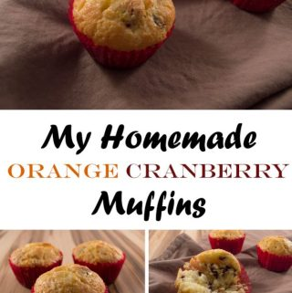 Homemade Orange Cranberry Muffins (recipe)