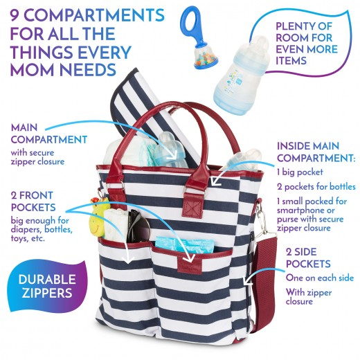 BabyTom Fashionable Diaper Bag #BabyTomDiaperBag