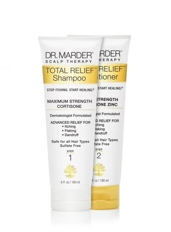 Dr. Marder Total Relief Scalp Therapy Shampoo & Conditioner fights hair loss in men & women
