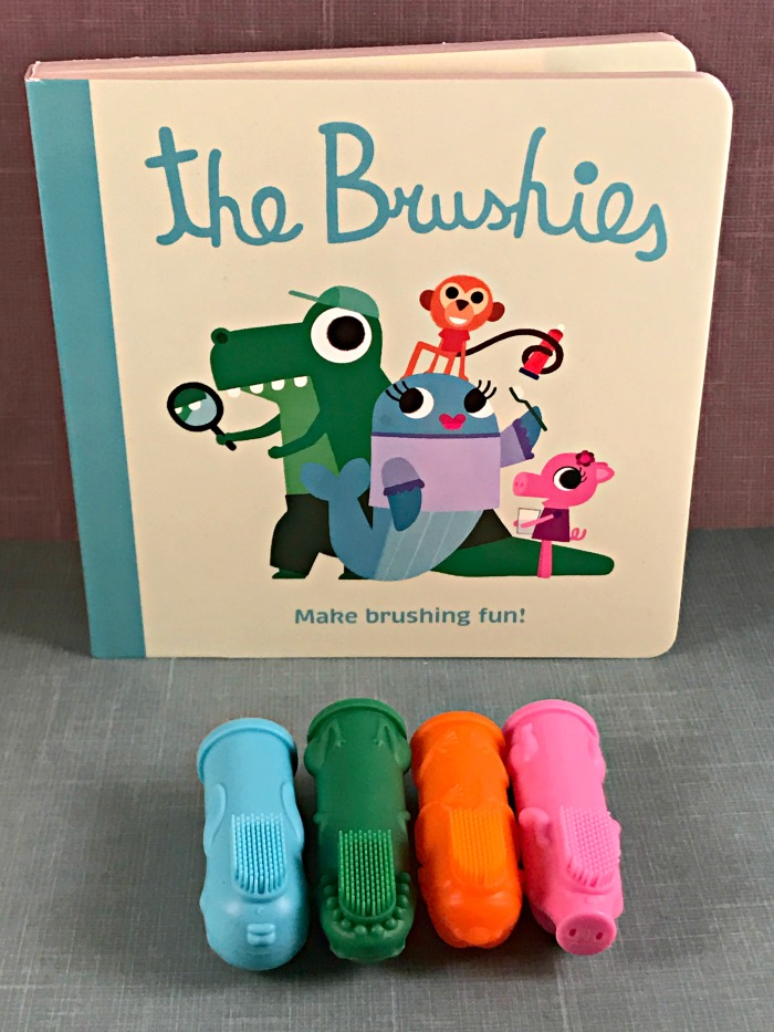 Brushing Baby's Teeth with The Brushies