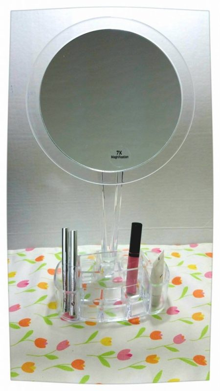 LED 7x Magnified Makeup Mirror and Tray