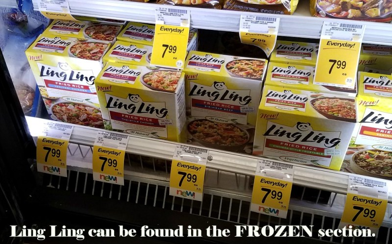 Ling Ling Fried Rice Delivers On Taste- Even My Kids LOVE IT! Find in the Frozen Section of the store!