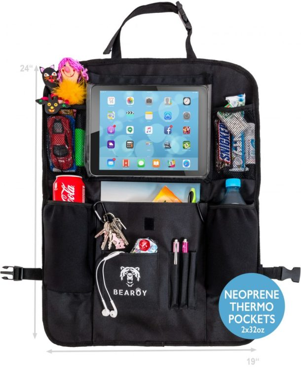 Kick The Car Clutter Away With Bearoy Car Back Seat Organizer Giveaway ends 11/20