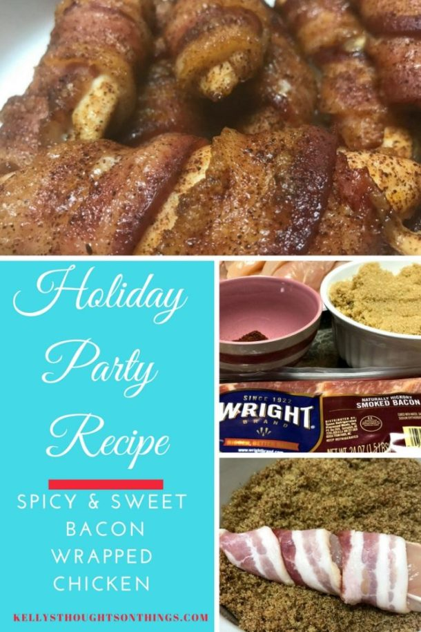 Quick & Easy Party Dish- Spicy & Sweet Bacon Wrapped Chicken @Kroger #MadeWithLove #Kroger #ad