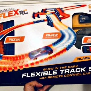 Kids Will Love Building & Test Driving This Glow-In-the Dark Max Flex RC Flexible Track Set With Remote Control Car