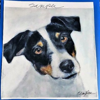 Celebrate Your Special Pets with a Custom Pet Portrait from LouLou Clayton