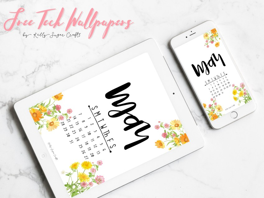 Free May 2017 Calendar Tech Wallpapers by KellySugarCrafts