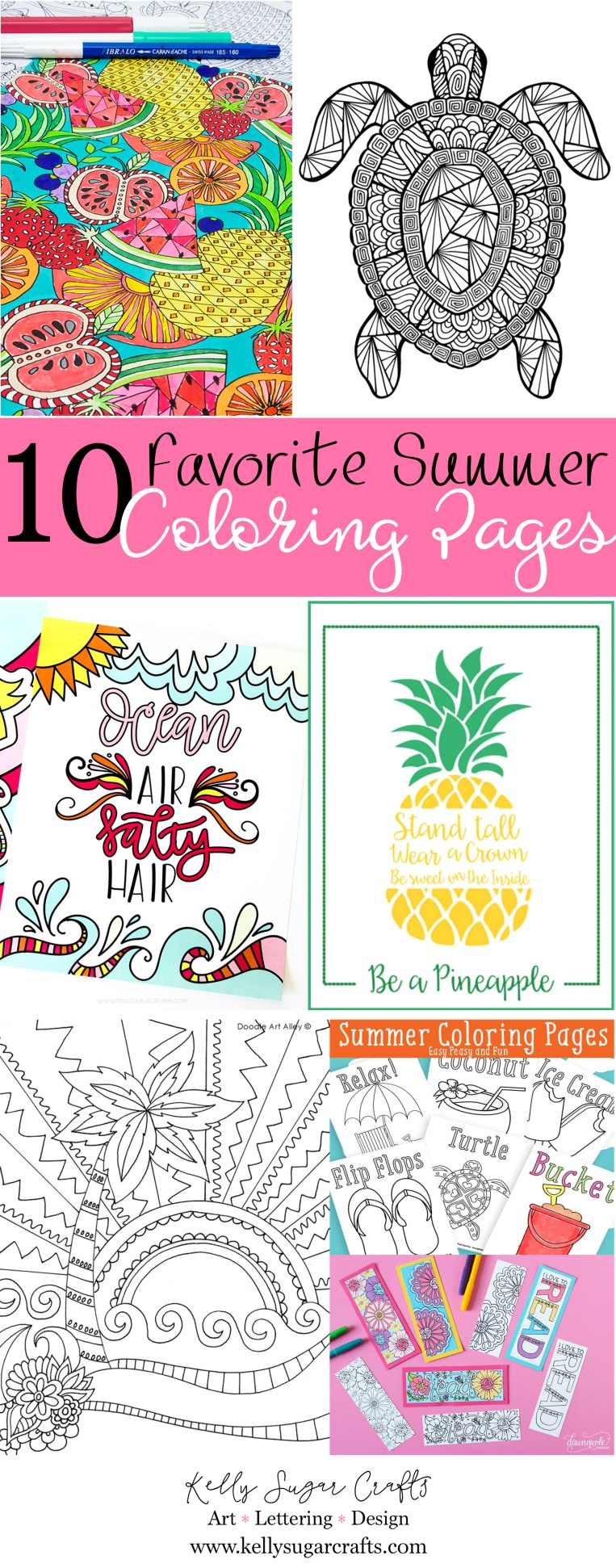 10 favorite summer coloring pages free printables kelly sugar
