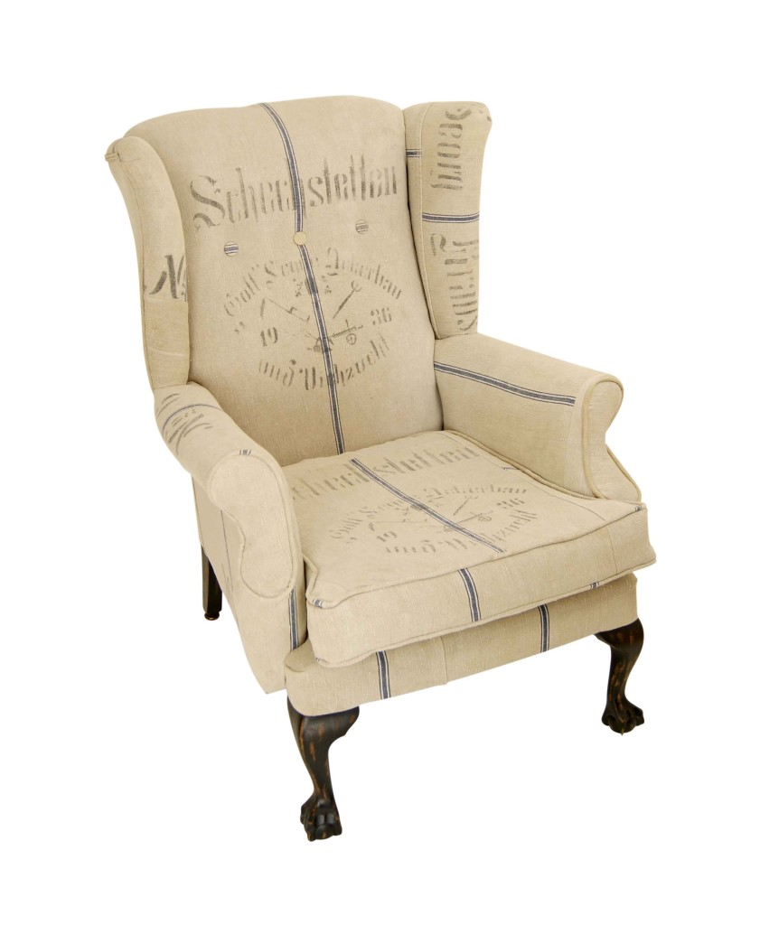 Grain Sack Chair Wing Back German Grain Sack Chair Kelly Swallow Bespoke Chairs