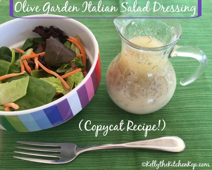 Olive Garden Italian Salad Dressing Copycat Recipe! - Kelly the ...