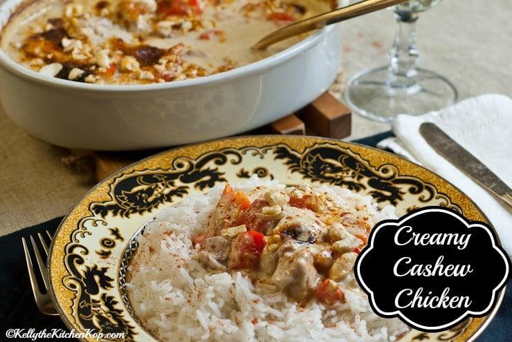 Creamy Cashew Chicken Recipe