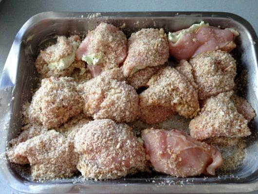 stuffed chicken in pan