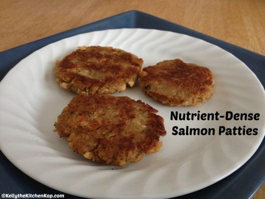 Fried Salmon Patties Recipe on plate