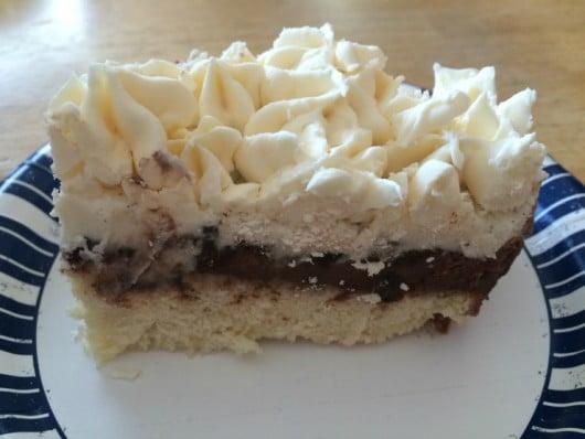 homemade ice cream cake slice