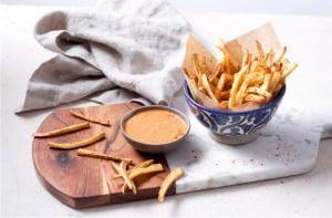 Parsnip-Fries-with-harissa-Mayo