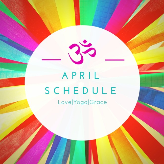 April Schedule - rainbow