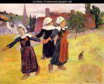 Gauguin Breton-Girls-Dancing-Aka-Dancing-A-Round-In-The-Haystacks