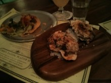 Oysters and tostada