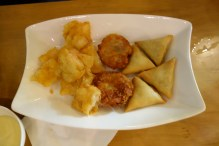 Beancurd wrapped prawns and other delicious fried treats