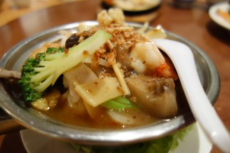 Combination hot pot with tofu & vegetables