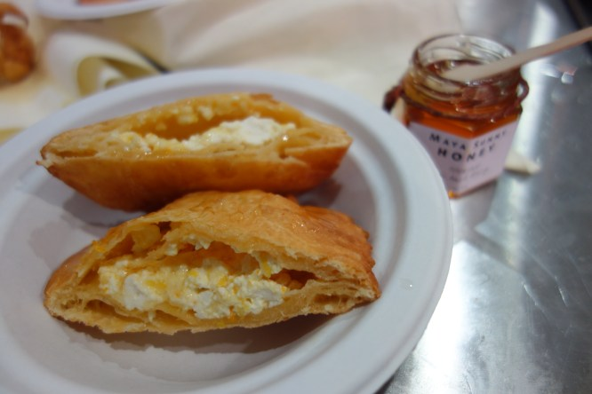Seadas drizzled with honey