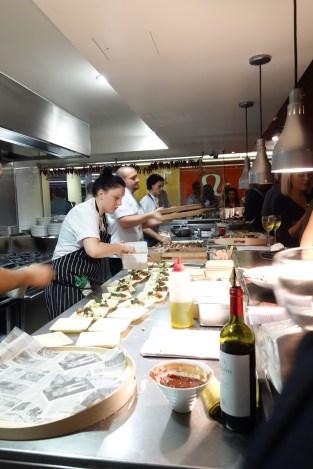 Bucci chefs in open kitchen