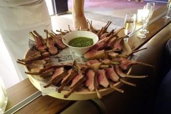 Lamb chops with pesto