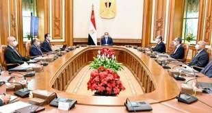 الرئيس المصري عبد الفتاح السيسي يطلع علي الخطة التنفيذية لنقل المؤسسات الحكومية الي العاصمة الادارية الجديدة
